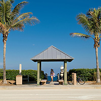 Public access point from A1A for Juno Beach, Florida