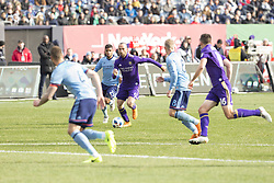 March 17, 2018 - New York, New York, United States - Justin Meram (9) of Orlando City SC controls ball during regular MLS game against NYC FC at Yankee stadium NYC FC won 2 - 0 (Credit Image: © Lev Radin/Pacific Press via ZUMA Wire)