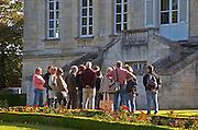 Group of visitors. Chateau La Louviere, Pessac Leognan, Graves, Bordeaux, France