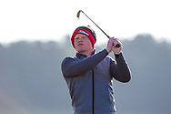 Josh Mackin (Dundalk) on the 2nd tee during Round 2 of the Ulster Boys Championship at Donegal Golf Club, Murvagh, Donegal, Co Donegal on Thursday 25th April 2019.<br /> Picture:  Thos Caffrey / www.golffile.ie