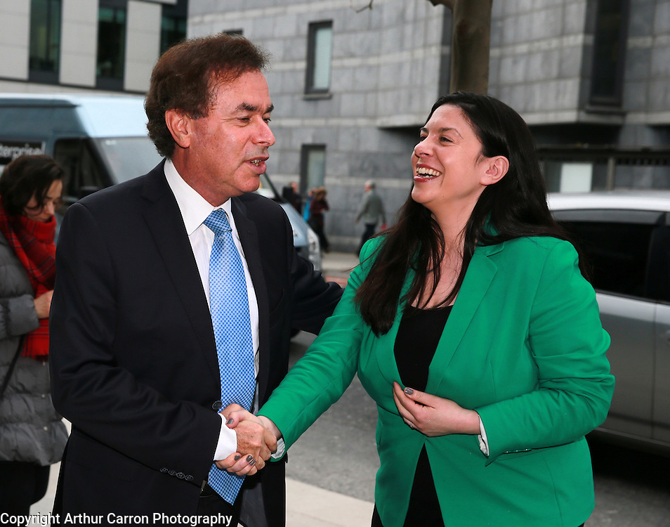 10/4/14 Minister Alan Shatter with Tanya Ward Chief Excutive Childrens Rights Alliance at a Seminar on Children and Family Relationships Bill 2014 at Chartered Accountants House in Dublin. Picture:Arthur Carron