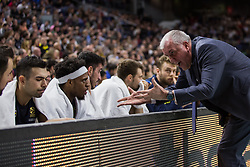 March 2, 2018 - Madrid, Madrid, Spain - Zeljko Obradovic (R) during Fenerbahce Dogus Istanbul victory over Real Madrid (83 - 86) in Turkish Airlines Euroleague regular season game (round 24) celebrated at Wizink Center in Madrid (Spain). March 2nd 2018. (Credit Image: © Juan Carlos Garcia Mate/Pacific Press via ZUMA Wire)