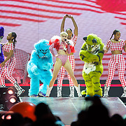 WASHINGTON, DC - April 10th, 2014 - Miley Cyrus performs at the Verizon Center in Washington, D.C. as part of her Bangerz Tour. (Photo by Kyle Gustafson / For The Washington Post)