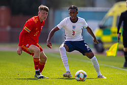 NEWPORT, WALES - Friday, September 3, 2021: Wales' Joel Green during an International Friendly Challenge match between Wales Under-18's and England Under-18's at Spytty Park. (Pic by David Rawcliffe/Propaganda)