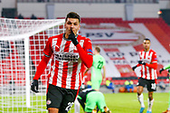 Joel Piroe of PSV Eindhoven celebrates after scoring his sides third goal during the UEFA Europa League, Group E football match between PSV and Omonia Nicosia on December 10, 2020 at Philips Stadion in Eindhoven, Netherlands - Photo Perry vd Leuvert / Orange Pictures / ProSportsImages / DPPI
