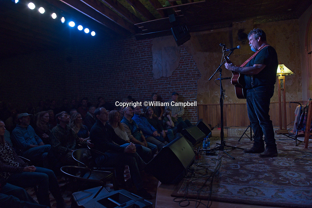 Darrell Scott performs to a sold out crowd at the Attic in Livingston, MT on April 28 ,2017.