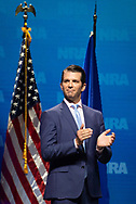 Donald Trump Jr., executive vice president of development and acquisitions with the Trump Organization Inc at the NRA-ILA Leadership Forum during the NRA Annual Meeting & Exhibits on <br /> May 4, 2018 in Dallas, Texas at the Kay Bailey Hutchison Convention Center.