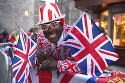 Royal fan Joseph Afrane in Windsor for the wedding of Princess Eugenie to Jack Brooksbank at St George's Chapel in Windsor Castle.