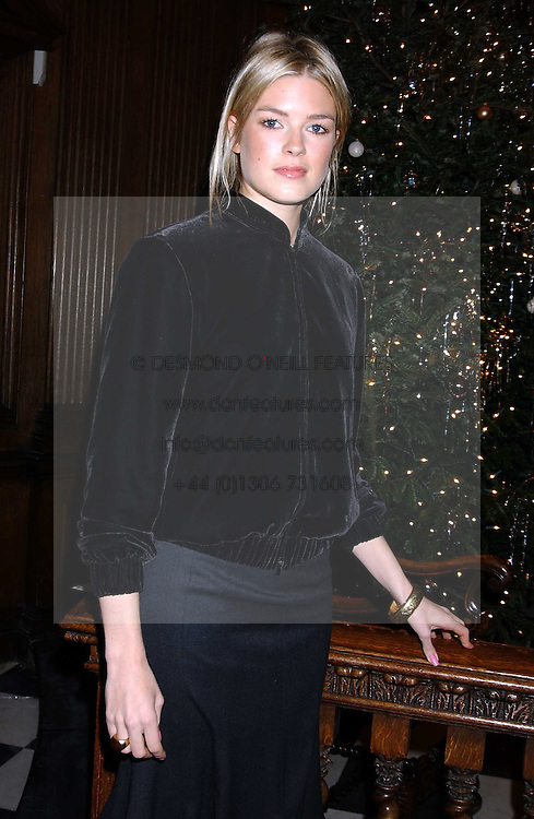 ISABELLA ANSTRUTHER-GOUGH-CALTHORPE at Carols from Chelsea in aid of the Institute of Cancer Research at the Royal Hospital Chapel, Chelsea, London on 1st December 2005.<br /><br />NON EXCLUSIVE - WORLD RIGHTS