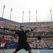 Ball boys and ball girls in action during the US Open Tennis Tournament, Flushing, New York. USA. 6th September 2012. Photo Tim Clayton