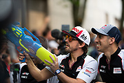 June 10-16, 2019: 24 hours of Le Mans. 8 Fernando Alonso, Toyota Gazoo Racing, TOYOTA TS050 - HYBRID , 8 Sébastien Buemi, Toyota Gazoo Racing, TOYOTA TS050 - HYBRID , driver's parade