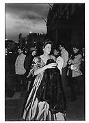 Mrs. Robin Fox. Arriving at the Austrian Embassy. <br />London. 1986 approx. © Copyright Photograph by Dafydd Jones 66 Stockwell Park Rd. London SW9 0DA Tel 020 7733 0108 www.dafjones.com