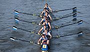 Chiswick. London. Saturday. Imperial College competing in the Quintin Head. on Sat. 23.01.2016. River Thames.   [Mandatory Credit: Peter Spurrier/Intersport-images.com