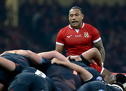 Sonatane Takulua of Tonga<br /> <br /> Photographer Simon King/Replay Images<br /> <br /> Under Armour Series - Wales v Tonga - Saturday 17th November 2018 - Principality Stadium - Cardiff<br /> <br /> World Copyright © Replay Images . All rights reserved. info@replayimages.co.uk - http://replayimages.co.uk