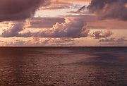 Caribbean Sea with dramatic clouds at sunset