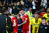 Accrington Stanley forward Billy Kee (29) arrives out of the tunnel during the EFL Sky Bet League 1 match between Burton Albion and Accrington Stanley at the Pirelli Stadium, Burton upon Trent, England on 23 March 2019.