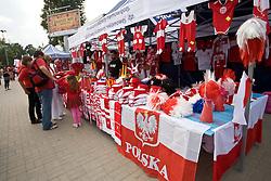 Outside shops at the EuroBasket 2009, on September 16, 2009, before Arena Lodz, Hala Sportowa, Lodz, Poland.  (Photo by Vid Ponikvar / Sportida)