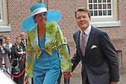 His highness prince Pieter-Christiaan of Oranje Nassau, of Vollenhoven and Ms drs. A.T. van Eijk get married Thursday 25 augusts in Palace the Loo in apeldoorn.<br /> <br /> <br /> Zijne Hoogheid Prins Pieter-Christiaan van Oranje-Nassau, van Vollenhoven en mevrouw drs. A.T. van Eijk treden donderdag 25 augustus in Paleis Het Loo te Apeldoorn in het huwelijk. <br /> <br /> On the photo/Op de foto:<br /> <br /> <br /> His royal highness prince Constantijn of the The Netherlands her royal highness princess Laurentien of the The Netherlands<br /> <br /> Zijne Koninklijke Hoogheid Prins Constantijn der Nederlanden <br /> Hare Koninklijke Hoogheid Prinses Laurentien der Nederlanden