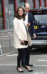 The Duke and Duchess of Cambridge leave a SportsAid event at the Copper Box in the Olympic Park, London.
