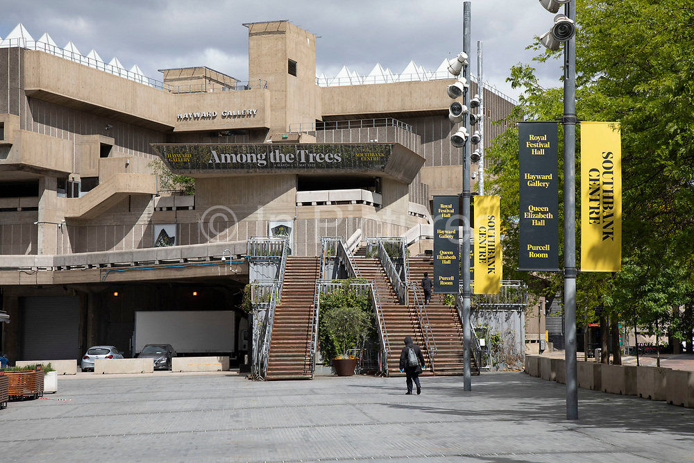 South Bank is eerily quiet and silent at the Royal Festival Hall as lockdown continues and people observe the stay at home message in the capital on 11th May 2020 in London, England, United Kingdom. Coronavirus or Covid-19 is a new respiratory illness that has not previously been seen in humans. While much or Europe has been placed into lockdown, the UK government has now announced a slight relaxation of the stringent rules as part of their long term strategy, and in particular social distancing.