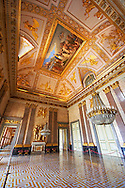 State room in The Kings of Naples Royal Palace of Caserta, Italy. A UNESCO World Heritage Site .<br /> <br /> Visit our ITALY HISTORIC PLACES PHOTO COLLECTION for more   photos of Italy to download or buy as prints https://funkystock.photoshelter.com/gallery-collection/2b-Pictures-Images-of-Italy-Photos-of-Italian-Historic-Landmark-Sites/C0000qxA2zGFjd_k<br /> <br /> <br /> Visit our EARLY MODERN ERA HISTORICAL PLACES PHOTO COLLECTIONS for more photos to buy as wall art prints https://funkystock.photoshelter.com/gallery-collection/Modern-Era-Historic-Places-Art-Artefact-Antiquities-Picture-Images-of/C00002pOjgcLacqI