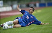 Football,  21. july 2002. European under 19 Championship. Norway v Slovakia 1-5. Milan Ivana, Slovakia.<br /> <br /> Fotball, 21. juli 2002. EM U.19. Norge - Slovakia.