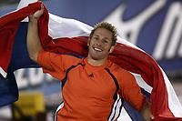 Friidrett<br /> VM 2005 Helsinki<br /> Foto: imago/Digitalsport<br /> NORWAY ONLY<br /> <br /> 11.08.2005  <br /> <br /> Weltmeister Rens Blom (Nederland)