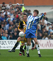 Photo: Andrew Unwin.<br />Hartlepool United v Port Vale. Coca Cola League 1. 06/05/2006.<br />Hartlepool's Antony Sweeney (R) battles for the ball.