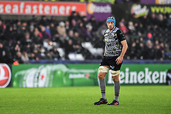 Ospreys' Justin Tipuric<br /> <br /> Photographer Craig Thomas/Replay Images<br /> <br /> EPCR Champions Cup Round 4 - Ospreys v Northampton Saints - Sunday 17th December 2017 - Parc y Scarlets - Llanelli<br /> <br /> World Copyright © 2017 Replay Images. All rights reserved. info@replayimages.co.uk - www.replayimages.co.uk