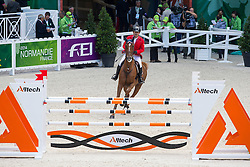 Houmam Al Khouli, (SYR), Gemini - Team & Individual Competition Jumping Speed - Alltech FEI World Equestrian Games™ 2014 - Normandy, France.<br /> © Hippo Foto Team - Leanjo De Koster<br /> 02-09-14