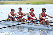 Race: 24  Event: Coxless Fours - Tier 3 - Final<br /> <br /> National Schools Regatta 2018<br /> Sunday<br /> <br /> To purchase this photo, or to see pricing information for Prints and Downloads, click the blue 'Add to Cart' button at the top-right of the page. The Metropolitan Regatta 2018