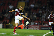 Bristol city's  Scott Wagstaff © shoots and  scores  his sides  2nd  goal.  Capital one cup match, 2nd round, Bristol city v Crystal Palace at Ashton Gate stadium in Bristol on Tuesday 27th August 2013. pic by Andrew Orchard , Andrew Orchard sports photography,