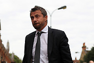 Fulham Manager Slavisa Jokanovic arrives at Craven Cottage ahead of today's game. EFL Skybet championship match, Fulham v Middlesbrough at Craven Cottage in London on Saturday 23rd September 2017<br /> pic by Steffan Bowen, Andrew Orchard sports photography.