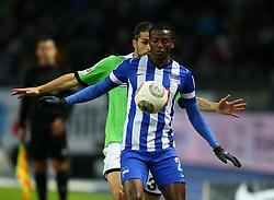 Football: Germany, 1. Bundesliga<br /> Adrian Ramos (Hertha BSC Berlin), Ricardo Rodriguez (VfL Wolfsburg),