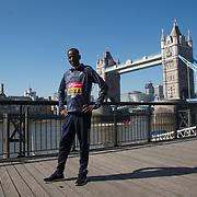 Guye Adola - Elite men photocall - Virgin Money London Marathon at Tower Hill on 19 April 2018, London, UK.