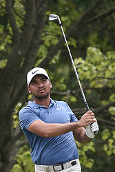August 12, 2018 - Town And Country, Missouri, U.S - JASON DAY from Australia watches his tee shot on hole two during round four of the 100th PGA Championship on Sunday, August 12, 2018, held at Bellerive Country Club in Town and Country, MO (Photo credit Richard Ulreich / ZUMA Press) (Credit Image: © Richard Ulreich via ZUMA Wire)