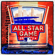iPhone Instagram of a 2014 All Star Game ice sculpture at Target Field in Minneapolis, Minnesota on July 15, 2014