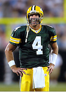(2004)-Brett Favre during a Monday Night Football game with the Carolina Panthers.
