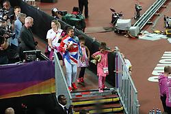 London, August 12 2017 . Mo Farah's family on day nine of the IAAF London 2017 world Championships at the London Stadium. © Paul Davey.