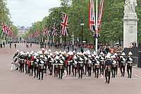 LONDON - JUNE 05: Royal Marines Band, The Queen's Diamond Jubilee, The Mall, London, UK. June 05, 2012. (Photo by Richard Goldschmidt)