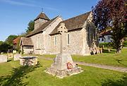War memorial village parish church of All Saints, Froxfield, Wiltshire, England, UK