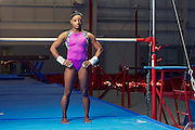 Three-time world champion gymnast Simone Biles photographed in Houston, TX by celebrity advertising photographer Nathan Lindstrom.<br /> <br /> ©2016 Nathan Lindstrom