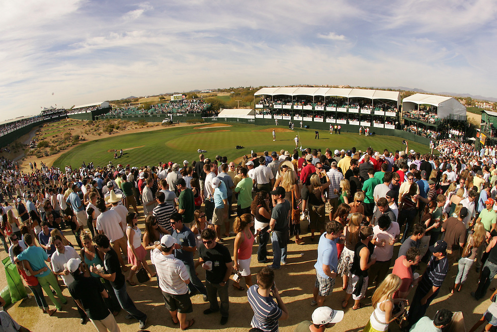 16th Hole.2006 FBR Open.3rd Round .TPC of Scottsdale.Scottsdale, AZ.Saturday, February 4 2006.02-04-06.photograph by Darren Carroll.