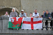 for those unable to get tickets flock to any viewing point Brighton's Big Screen Event match showing at Madeira Drive, to watch England and Russia at Stade Velodrome, Marseille, France on 11 June 2016. Photo by Stuart Butcher.