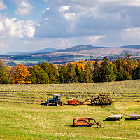 A late fall hay harvest in Derby, Vermont.  All Content is Copyright of Kathie Fife Photography. Downloading, copying and using images without permission is a violation of Copyright.