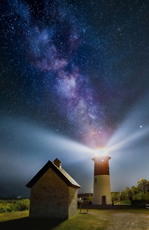 Nauset Light is one of the most iconic Cape Cod lighthouses. It is located in the town of Eastham, MA next to Nauset Beach and not far from Coastguard Beach along the National Seashore. Visiting Cape Cod and the Islands is always a lot of fun. I finally was able to head out to photograph Nauset Beach Lighthouse under a starry night and milky way. <br /> New England Cape Cod lighthouse and milky way photography images are available as museum quality photography prints, canvas prints, acrylic prints or metal prints. Fine art prints may be framed and matted to the individual liking and decorating needs:<br /> <br /> https://juergen-roth.pixels.com/featured/milky-way-over-nauset-lighth-juergen-roth.html<br /> <br /> All New England photos are available for photography image licensing at www.RothGalleries.com. Please contact Juergen with any questions or request. <br /> <br /> <br /> Good light and happy photo making!<br /> <br /> My best,<br /> <br /> Juergen<br /> Licensing: http://www.rothgalleries.com<br /> Instagram: https://www.instagram.com/rothgalleries<br /> Twitter: https://twitter.com/naturefineart<br /> Facebook: https://www.facebook.com/naturefineart