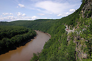 Deerpark, N.Y. - The part of Route 97 known as the Hawk's Nest curves above the Delaware River on July 7. 2006. Pennsylvania is on the left side of the river. This stretch of road is part of the Upper Delaware Scenic Byway.