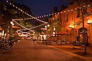 Durham, North Carolina's Brightleaf Square - taken in the evening
