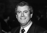 Giles Brandreth, MP, Conservative Party, UK, Westminster Parliament, 19941009GB. Televison presenter, broadcaster.<br /> <br /> Copyright Image from Victor Patterson, Belfast, UK<br /> <br /> t: +44 28 9066 1296 (from Rep of Ireland 048 9066 1296)<br /> m: +44 7802 353836<br /> <br /> victorpattersonbelfast@gmail.com<br /> www.victorpatterson.com<br /> <br /> Please see my Terms and Conditions of Use at https://www.victorpatterson.com/page2<br /> It is IMPORTANT that you familiarise yourself with them.<br /> <br /> Images used online incur an additional cost and must be visibly watermarked i.e. © Victor Patterson within the body of the image and copyright metadata must not be deleted. Images used on the Internet have a size restriction of 4kbs and are chargeable at rates available at victorpatterson.com.<br /> <br /> This image is only available for the use of the download recipient i.e. television station, newspaper, magazine, book publisher, etc, and must not be passed on to any third party. It is also downloaded on condition that each and every subsequent usage is notified within 7 days to victorpattersonbelfast@gmail.com<br /> <br /> The right of Victor Patterson to be identified as the author is asserted in accordance with The Copyright Designs And Patents Act (1988). All moral rights are asserted.