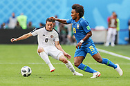Willian of Brazil and Bryan Oviedo of Costa Rica during the 2018 FIFA World Cup Russia, Group E football match between Brazil and Costa Rica on June 22, 2018 at Saint Petersburg Stadium in Saint Petersburg, Russia - Photo Thiago Bernardes / FramePhoto / ProSportsImages / DPPI
